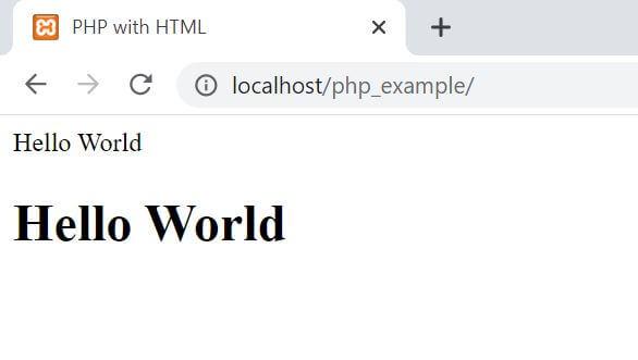 Run PHP Program in XAMPP